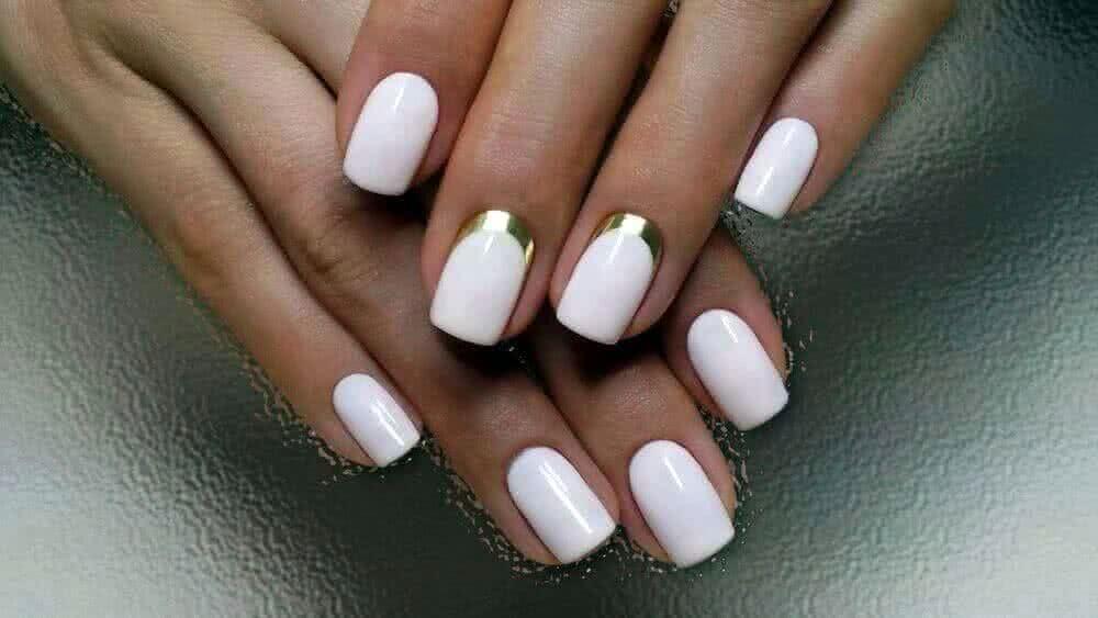 Маникюр гель-лаком на короткие ногти