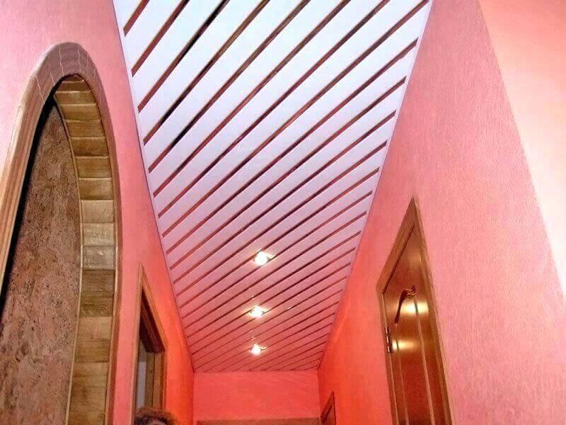 Потолок в коридор своими руками