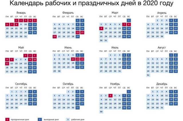 Праздничные дни 2020 года